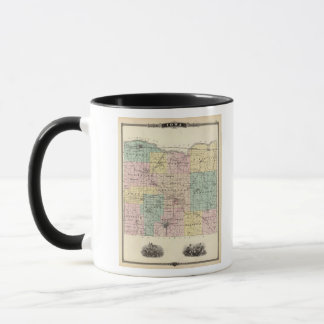 Map of Iowa County, State of Wisconsin Mug
