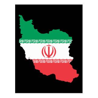 Map Of Iran Postcard