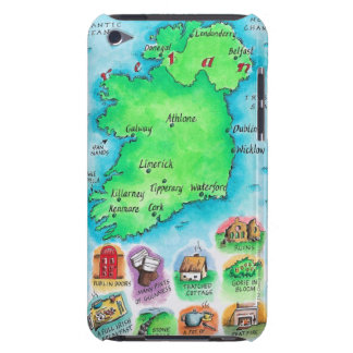 Map of Ireland Barely There iPod Cases