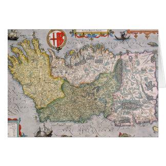 Map of Ireland Card