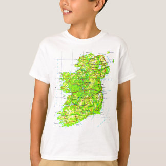 Map of Ireland Emerald Isle St Patrick's Day T-Shirt