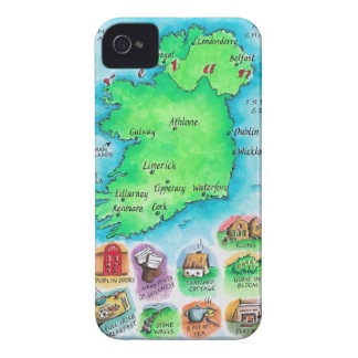 Map of Ireland iPhone 4 Case-Mate Case