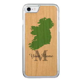 map of Ireland monogrammed Carved iPhone 8/7 Case