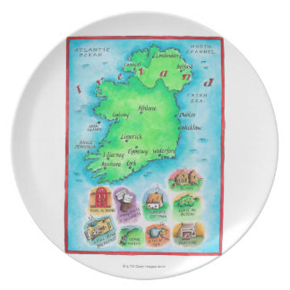 Map of Ireland Plate
