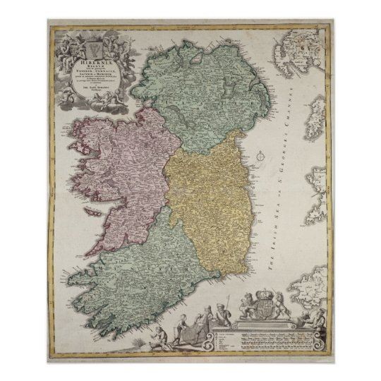 Map of Ireland showing the Provinces of Ulster