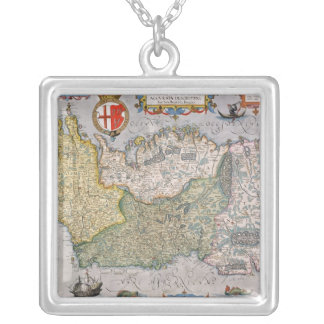 Map of Ireland Silver Plated Necklace