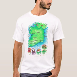 Map of Ireland T-Shirt