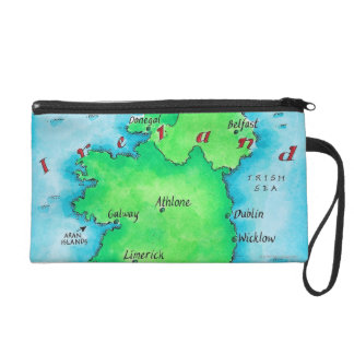 Map of Ireland Wristlet