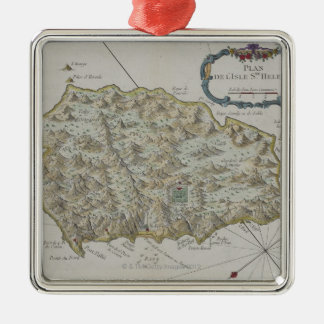 Map of Island of St. Helena Christmas Ornament