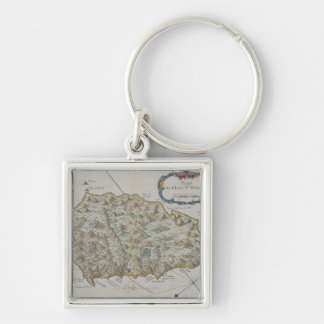 Map of Island of St. Helena Key Ring