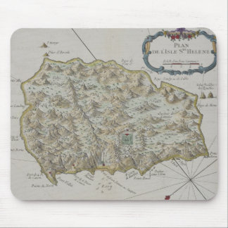 Map of Island of St. Helena Mouse Mat
