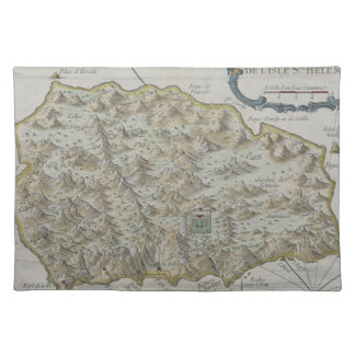 Map of Island of St. Helena Placemats