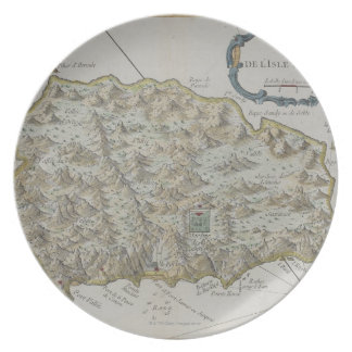 Map of Island of St. Helena Plate