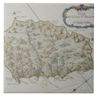 Map of Island of St. Helena Tile