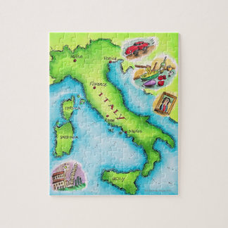 Map of Italy 2 Jigsaw Puzzle