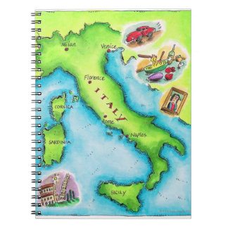 Map of Italy 2 Notebook
