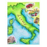 Map of Italy 2 Post Cards