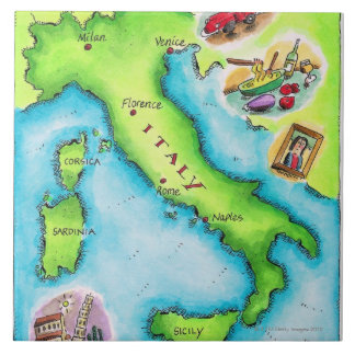 Map of Italy 2 Tile