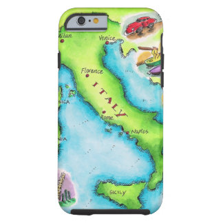 Map of Italy 2 Tough iPhone 6 Case