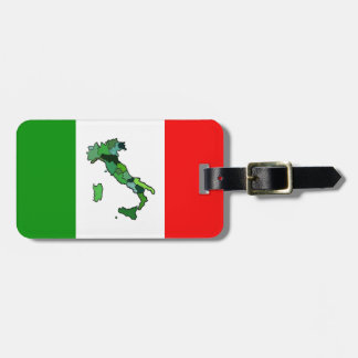 Map of Italy and Italian Flag. Bag Tag