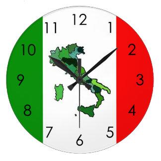 Map of Italy and Italian Flag Clocks