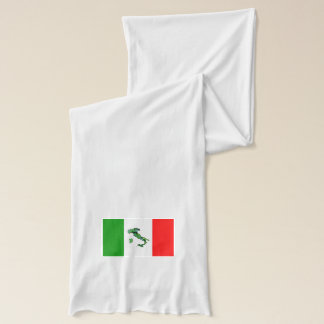Map of Italy and Italian Flag Scarf