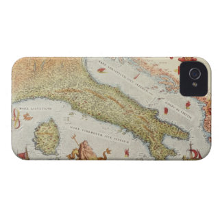 Map of Italy in 1500 iPhone 4 Case-Mate Case