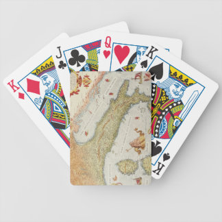 Map of Italy in 1500 Poker Deck