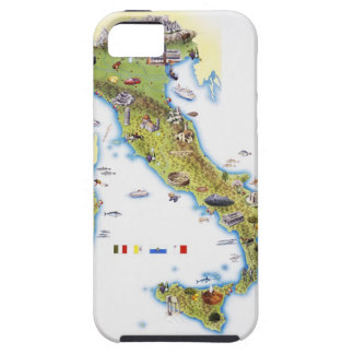 Map of Italy iPhone 5 Cases