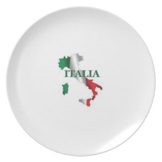 Map of Italy Italia Melamine Plate