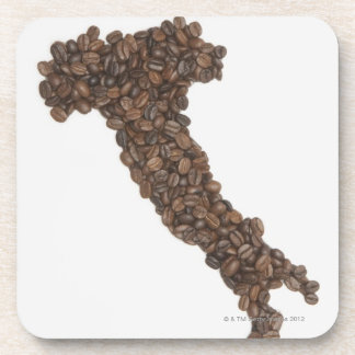 Map of Italy made of Coffee Beans Coaster
