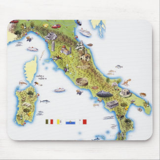 Map of Italy Mouse Mat