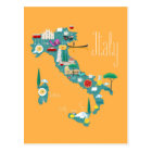 Map of Italy Postcard
