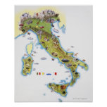 Map of Italy Poster