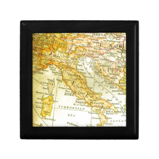 Map of Italy Small Square Gift Box