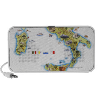 Map of Italy Portable Speakers