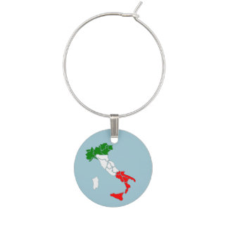 Map of Italy wine charm. Wine Charm
