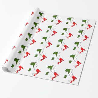 Map of Italy Wrapping Paper