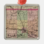 Map of Jackson County, Michigan Christmas Ornament