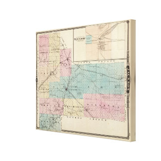 Map of Jackson County, Plat of Friendship Canvas Print