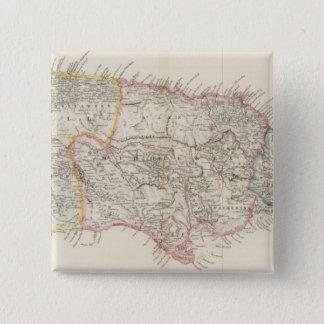 Map of Jamaica 15 Cm Square Badge