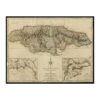 Map of Jamaica (1775) Canvas Print