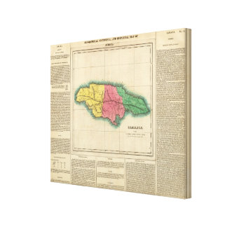 Map Of Jamaica Canvas Print