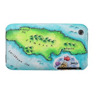 Map of Jamaica iPhone 3 Case-Mate Case