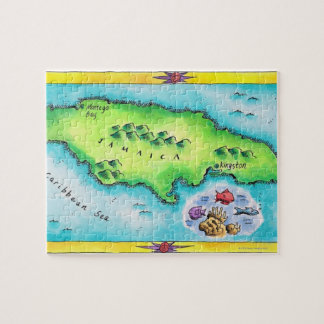 Map of Jamaica Jigsaw Puzzle