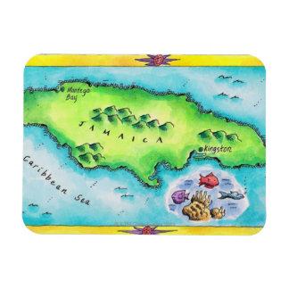 Map of Jamaica Magnet