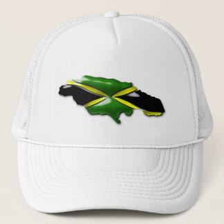 Map of Jamaica Trucker  Hat