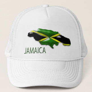 Map of Jamaica Trucker  Hat