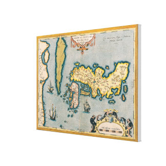 Map of Japan 2 Canvas Print