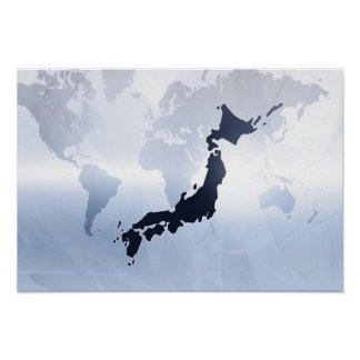 Map of Japan 2 Poster
